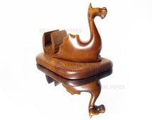 New Wooden DRAGON Table Stand Visiting Cards. Handmade Ash-Tree