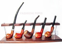 New Wood/Wooden Pipes Stand-Showcase, Rack Holder for 5 Tobacco Smoking Pipes . Handmade.....LIMITED Edition.....