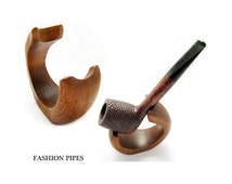 New Natural Wooden Ash Tree Pipe Stand Rack Holder for Tobacco Pipe - Smoking Pipe. Handcrafted