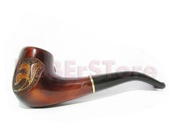 Exclusive Style Tobacco pipe Smoking Pipe. Handcrafted Wooden Pipes/Pipe, Inlaid with Copper Wood Pipe/Pipes......Limited Edition......