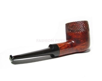 Single Copy BRIAR PIPE RUSTIC, Tobacco Pipe, Smoking Pipe Exclusive Handmade 5.1'' & Pipe Stand.