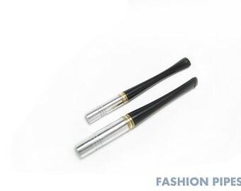 """Metal Cigarette Holders. Short Cigarette Holder 3.5""""/90 mm (slims) & 3.9''/100 mm (regular), Handmade Fashion Cigarette Holders Set"""