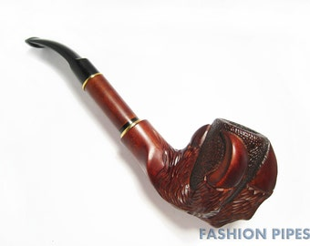 """Wow, UNIQUE Long Wooden pipe-Tobacco Pipe-Smoking Pipe/pipes. Handcrafted """" EAGLE CLAW"""" Rare Wood Pipe. Great Gift for Pipe Smokers"""