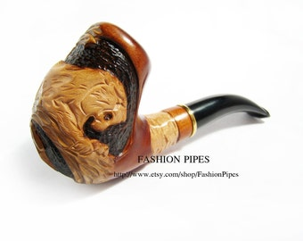 New Pipe, BIG Wild TIGER, Wooden pipe, Tobacco pipe Smoking Pipe/Pipes for Pipe Smokers, Wooden pipe/pipes carved pipe. BEST Offer