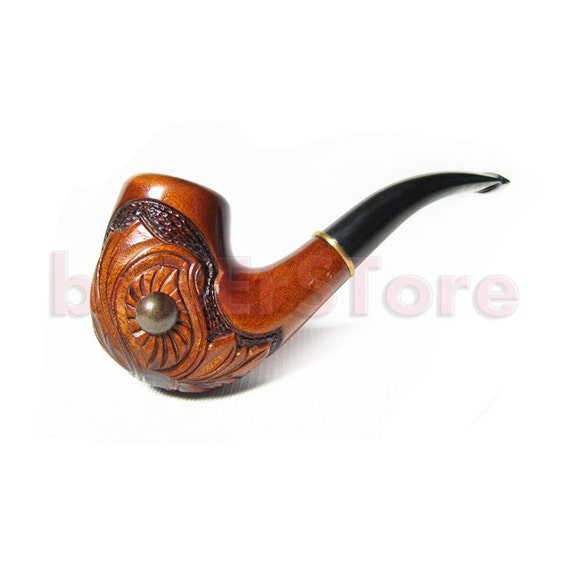 """Exclusive Style Tobacco Pipe/Pipes Smoking Pipe. Handcrafted Wooden Pipe """"PEARL"""", Wood Pipe/Pipes.....Limited Edition..... Free Gift"""