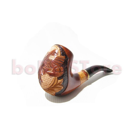"""Glorious Pipe, Tobacco Pipe Carving Handmade Smoking pipe/pipes. New Design Wooden pipe/pipes Handcrafted """"RUSSIAN EAGLE"""" Best Wood pipe"""