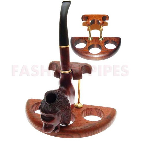 New 3 Smoking Pipes/Pipe Stand Rack Hold Case Display. Handmade.....LIMITED Edition.....