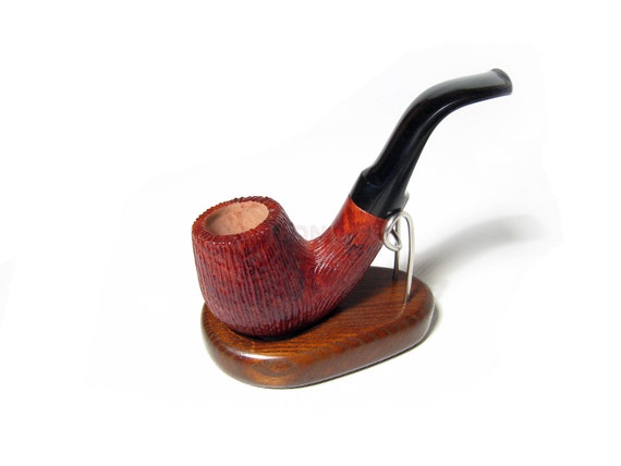 Best Sherlock Holmes Pipe, BRIAR Pipe, Rustic Tobacco Pipe, Smoking Pipe/Pipes 5.1'' & Stand .....LOWEST Price......
