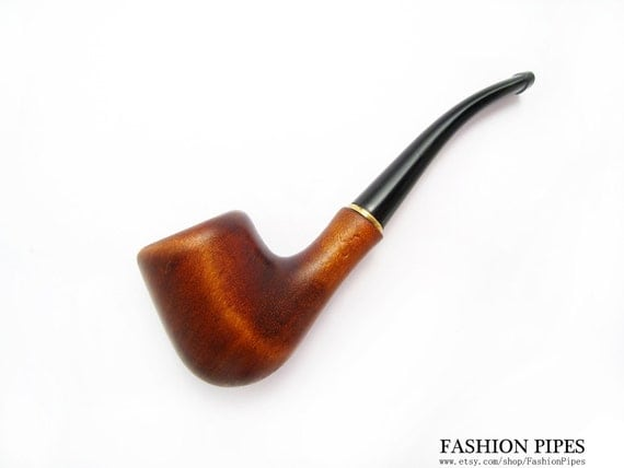 Tobacciana Wood Pipe Mini Tobacco Pipe/Pipes of Pear, Smoking Pipe Classic Wooden pipe/pipes Designed For Pipe Smokers - Best Price in FPS