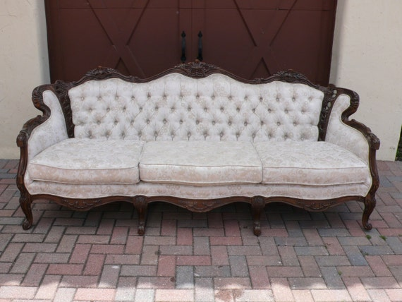 LISTING for Esty Member: Swimmer13 - Rare Vintage French Regency Sofa Couch