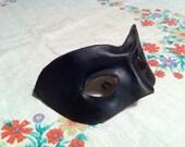Leather Harlequin Mask- Black