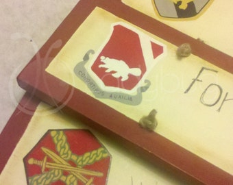 Military Insignia for military sign - Home is where the Military sends us