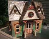 doll house cottage  COMPLETE ready for furniture, plants, pets..and the new homeowner 1-12 scale