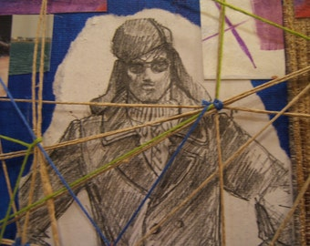 """multi media collage......boys will be boys number 2 .......""""home from the sea""""..... original TREASURY ITEM  f"""