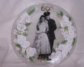 Commissioned Wedding Anniversary Plate Hand Painted