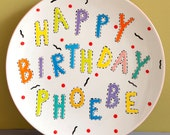 Custom Personalized Hand-Painted Baby Birthday Plate