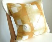 Tie Dye Shibori Pillow Cover 18x18 inches - Honey