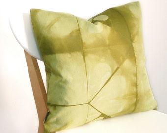 Tie Dye Green Pillow Cover - Contemporary Shibori - 18x18 inches - Avocado