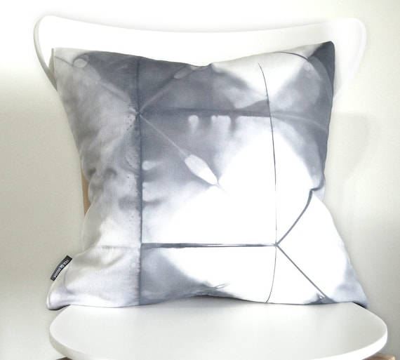 Tie Dye Gray Pillow Cover - Contemporary Shibori - 18x18 inches - Willow