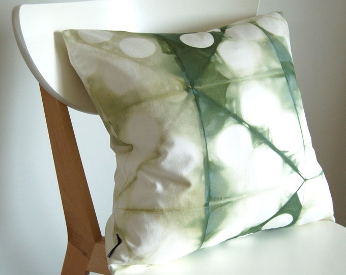 Tie Dye Shibori Pillow Cover 18x18 inches - Clover