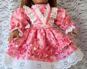 American Girl Doll Clothes: Pretty In Pink Valentine's Dress