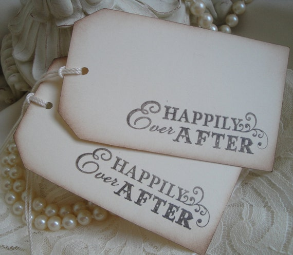 Happily Ever After - Alternative Guestbook - Wish Tree Tags - Wedding Favor Tags