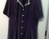 size 14 printed 40's sailor dress