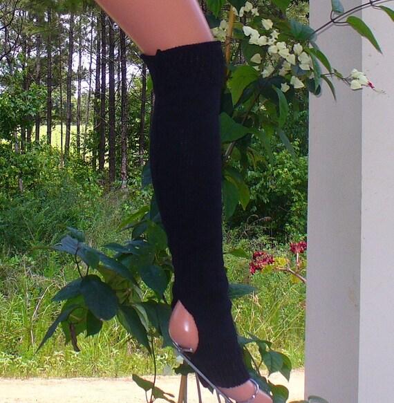 Stirrup Legwamer for Dance Yoga Black