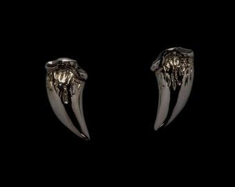 Fang Earrings - Black Vampire Fang Studs - Vampire Jewelry – Fang Studs – Fang Earrings – Black Fang Studs – Vampire Fangs – Stud Earrings