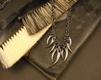 Fangs, Vampire Necklace, Gothic, Fang Necklace, Vampire Fang Necklace, Vampire Jewelry, Gothic Jewelry, Goth Necklace, Dark Jewelry, Goth