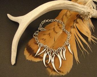 Vampire Fangs, Gothic Jewelry, Vampire Fang Bracelet, Wolf Fangs, Fangs, Vampire Jewelry, Wolf Jewelry, Wolf, Vampire, Dark Jewelry, Gothic