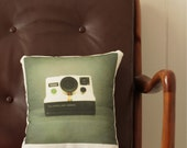 Polaroid Camera Cushion - 30cm x 35cm - Cotton-Linen