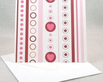 Valentine Pattern Greeting Card - Set of 6