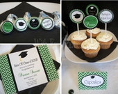 GRADUATION - Printable Party Collection by With Envy Parties - You Choose Colors & Pattern