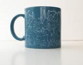 Vintage Taylor & Ng Naughty Bunny Rabbit Mug - Blue and White