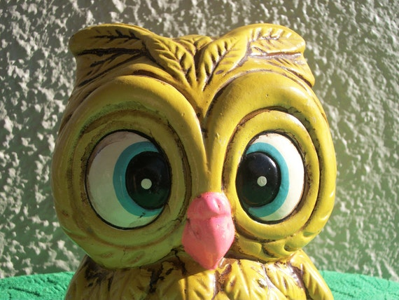 Retro Owl Coin Bank / Piggy Bank- Japan- Looking Groovy