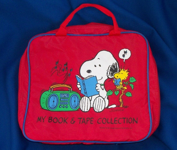Vintage Snoopy Book And Tape Collection Tote/Bag
