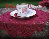 Purple crochet doily