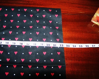 "Red Hearts Cotton Fabric  ""You Gotta Have Heart"" by Patty Reed Designs, 25 x 22 piece"