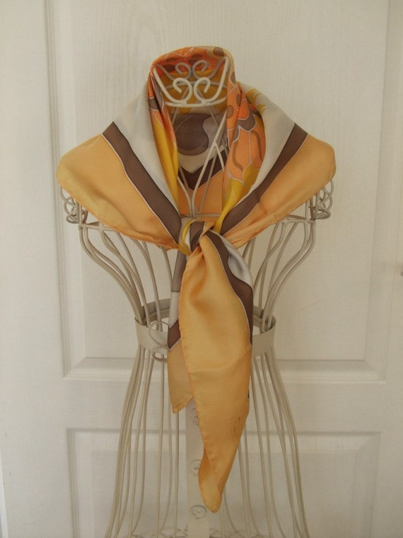Beautiful vintage French scarf - to add a bit of sun to your life.
