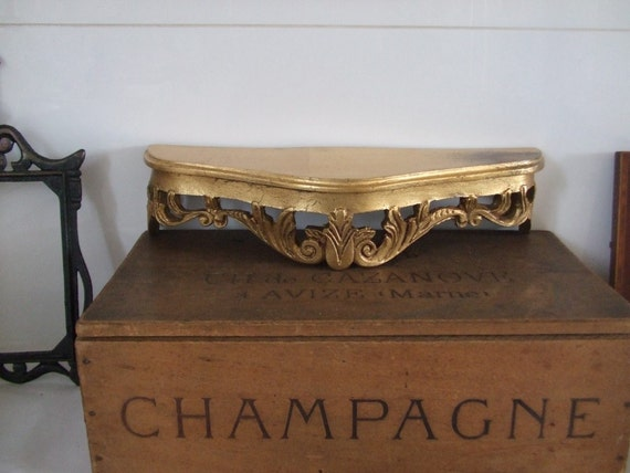 Vintage French  decorative gold shelf