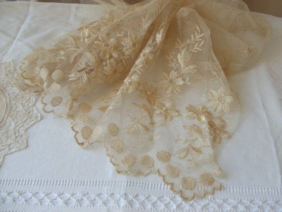 Vintage French piece of lace