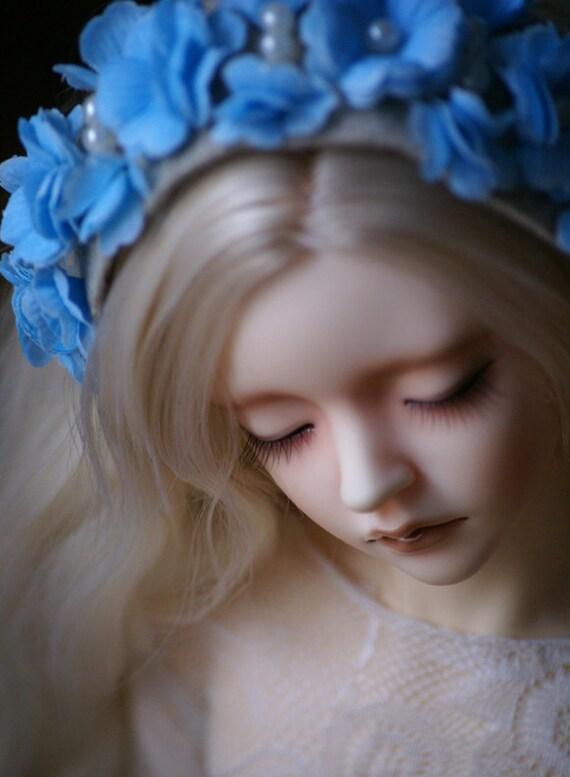 July - blue flower crown