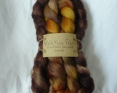 Rust & soil and Semisolid Handpainted Lincoln wool 100g