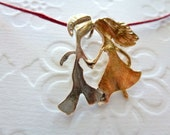 The Two Lovers, Silver, Brass Necklace, Valentine