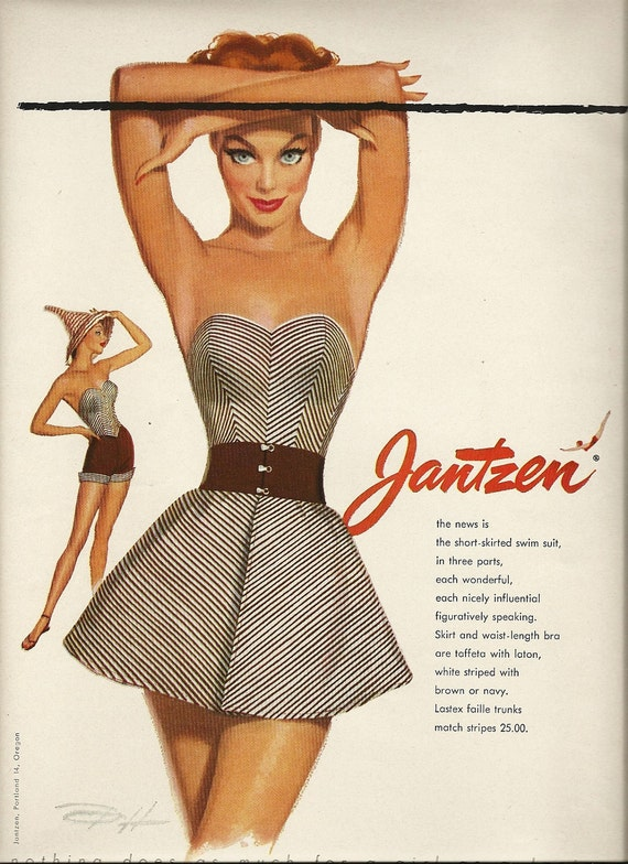 Fashion Magazine Ad 1953 Vogue Jantzen Paper Ephemera