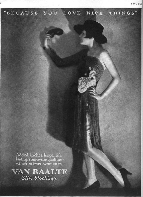 1920s Fashion Magazine Ad Vogue Magazine Paper Ephemera