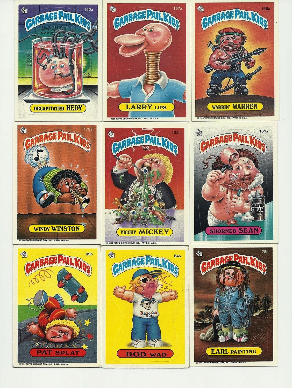 80s Garbage Pail Kids 20 Topps Trading Cards 1986 Paper