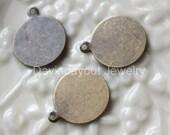 50pc 12mm Diameter Pendant Bail..Antique bronze