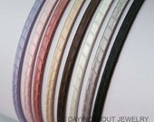 You PIck 10pcs..5mm(0.20inch or 3/16 inch) Satin Ribbon Wrapped  Metal(Steel) Headbands from 8 colors